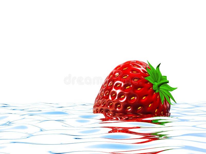 Download Strawberry stock illustration. Image of path, cool, liquid - 15938290