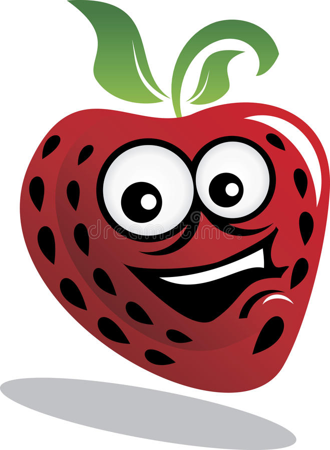 Download Strawberry stock vector. Image of comic, illustration - 17704588