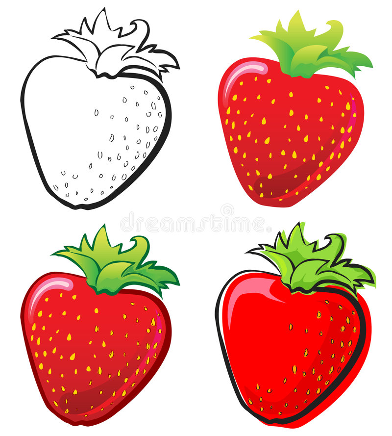 Download Strawberry stock vector. Image of juicy, variation, summer - 6810173