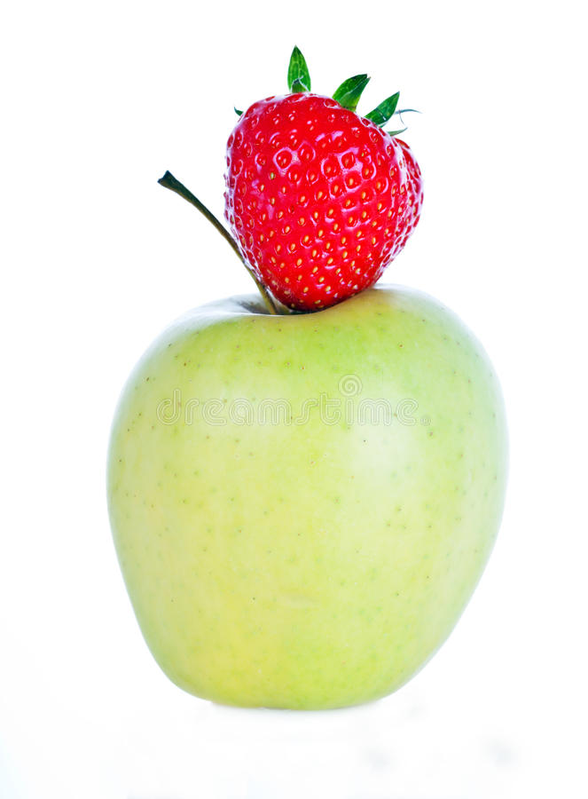 Strawberry and apple royalty free stock photo