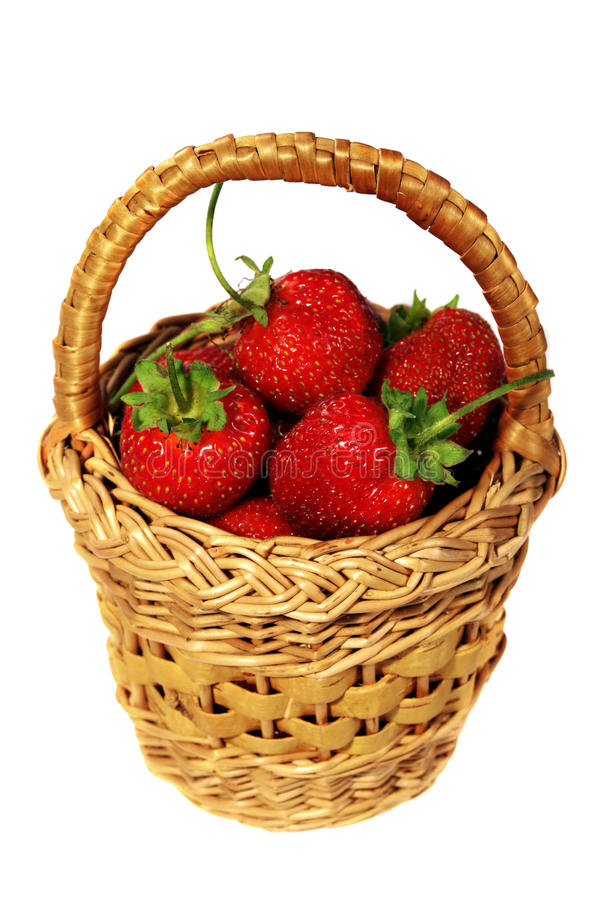 Strawberry In Basket Stock Photo