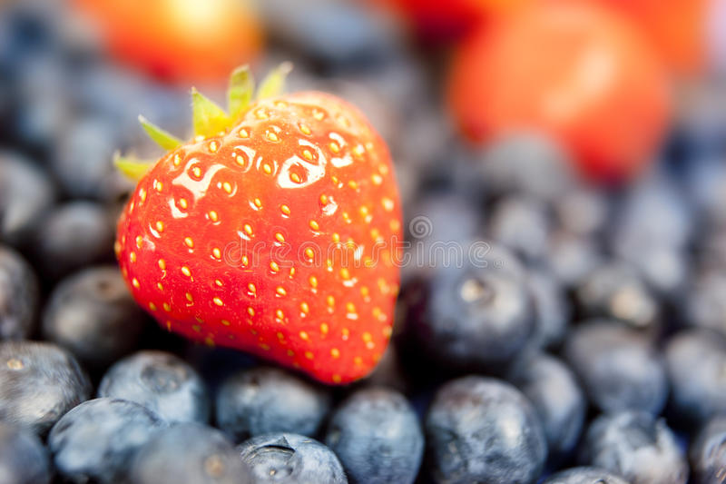 Download Strawberry and blueberry stock photo. Image of diet, agriculture - 12119120