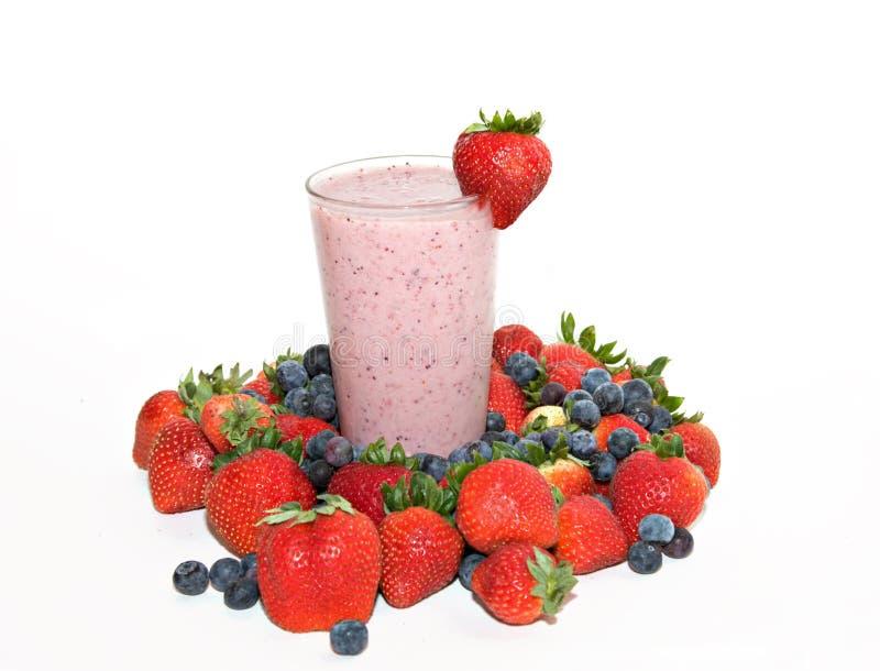 Strawberry Blueberry Smoothie stock image