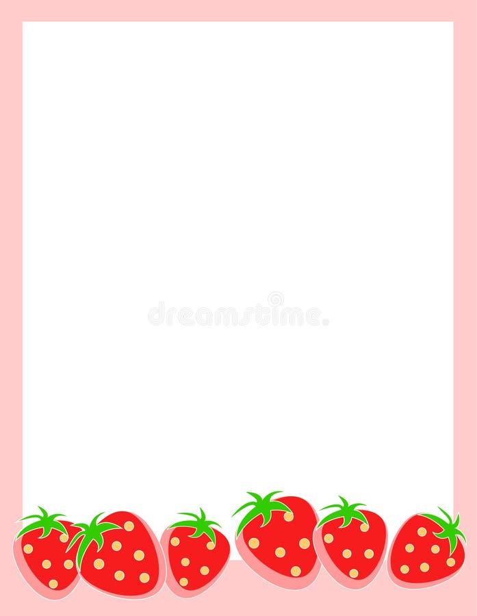 Strawberry Border / Frame stock illustration. Illustration of ...