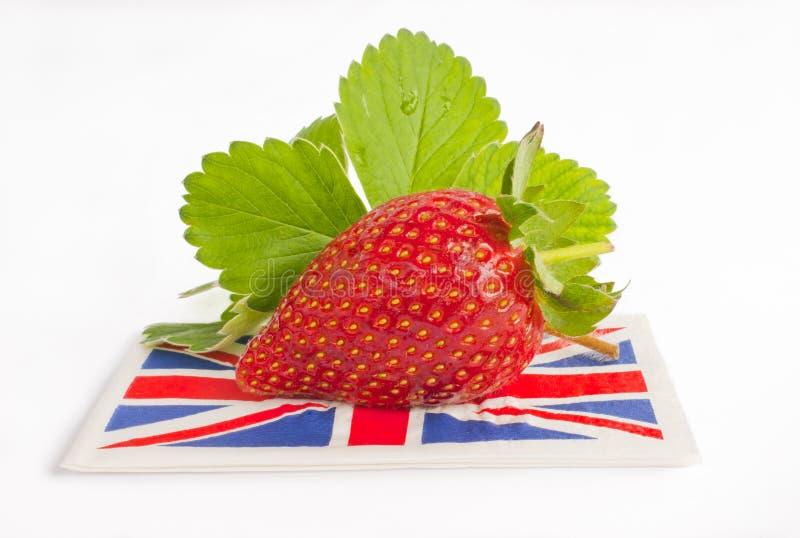 Strawberry british flag summer. royalty free stock photos