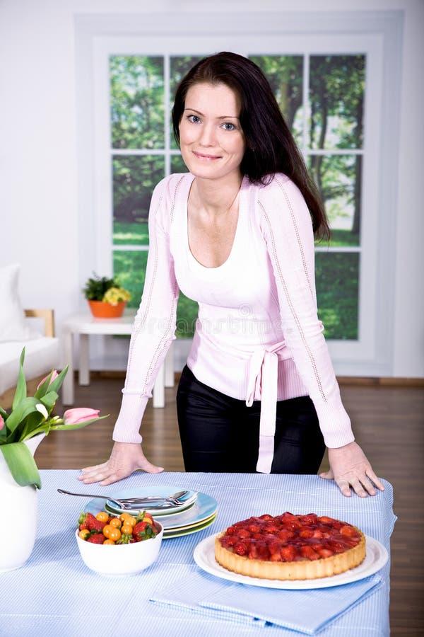 Download Strawberry cake stock image. Image of baking, food, inside - 19752141