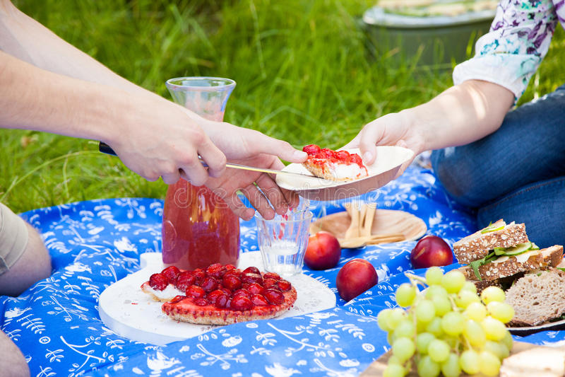 Download Strawberry cake stock photo. Image of laughing, lunch - 26890666