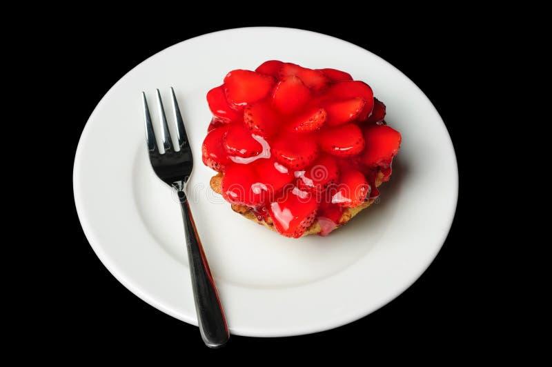 Strawberry cake stock images