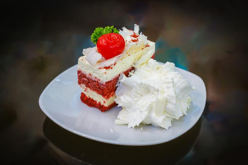 Strawberry Cake detail royalty free stock images