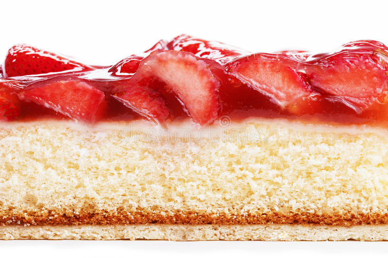 Strawberry Cake From Side Stock Photography