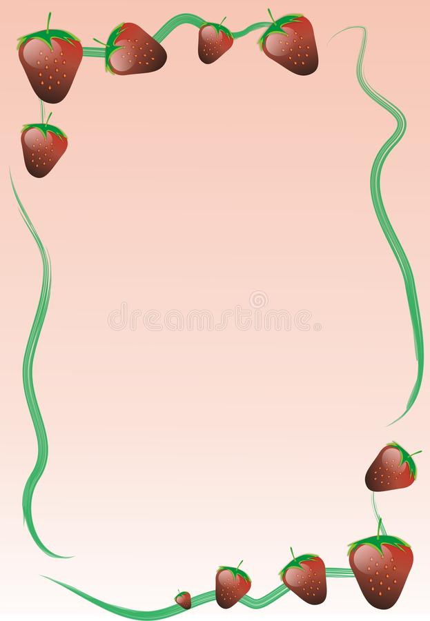 Strawberry card stock photography