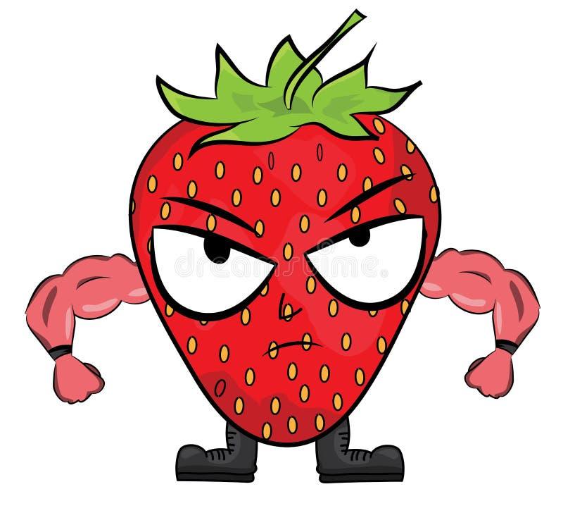 Strawberry cartoon character stock illustration