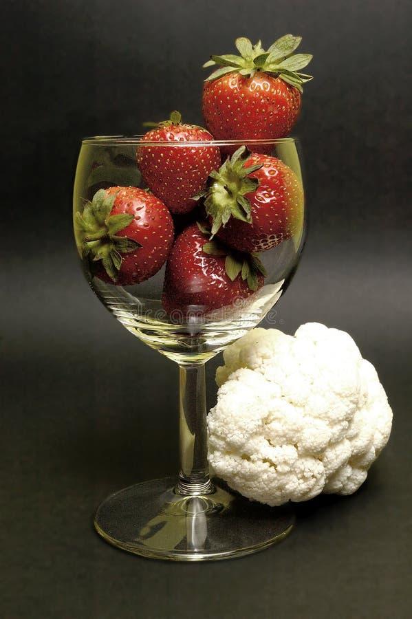 Strawberry And Cauliflower Free Stock Images