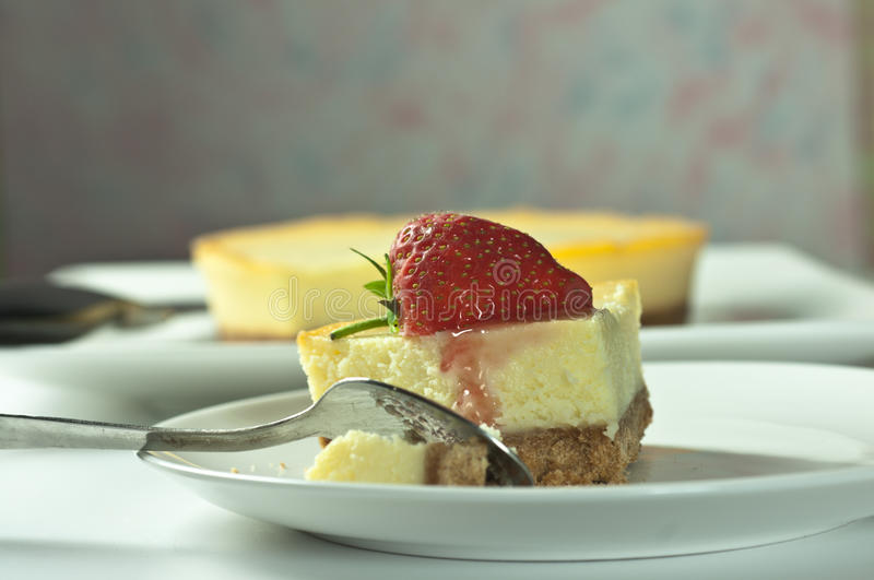 Download Strawberry cheesecake stock photo. Image of gourmet, sauce - 21405806