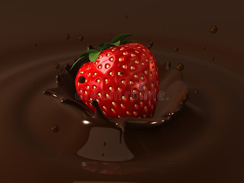 Download Strawberry choco stock illustration. Image of abstract - 4058011