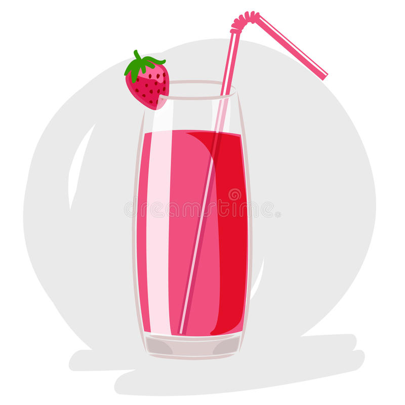 Strawberry cocktail vector royalty free stock images