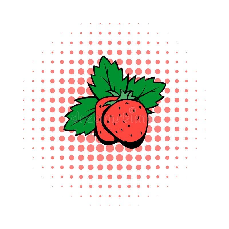 Strawberry comics icon royalty free illustration