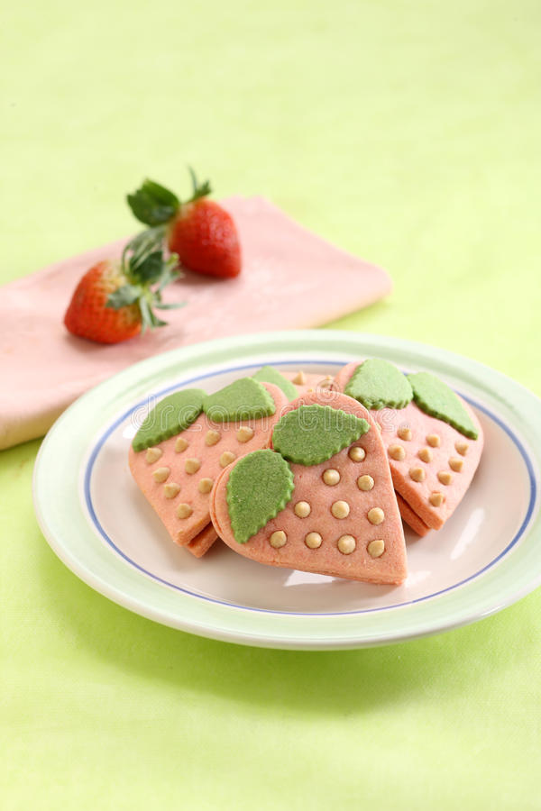 Download Strawberry cookies stock photo. Image of sweet, fresh - 25239838