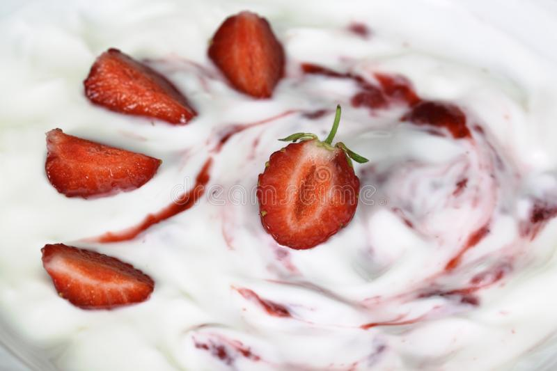 Strawberry Cream Royalty Free Stock Photography