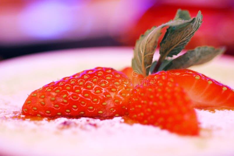 Strawberry & cream stock photo