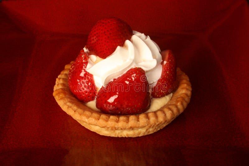 Strawberry cream pie royalty free stock photos