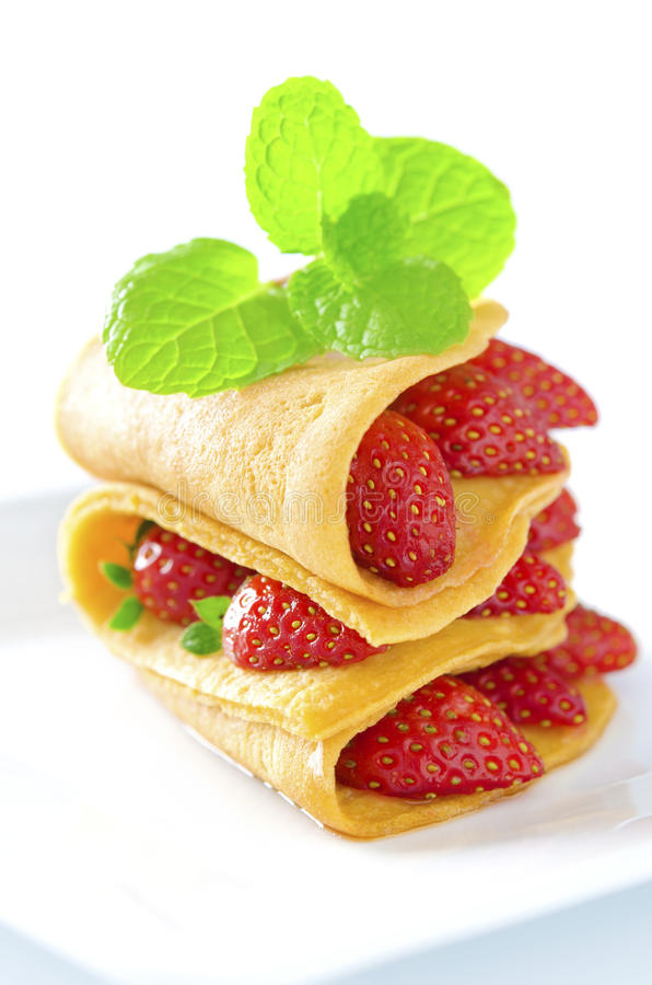 Download Strawberry crepe stock photo. Image of filling, breakfast - 24620488