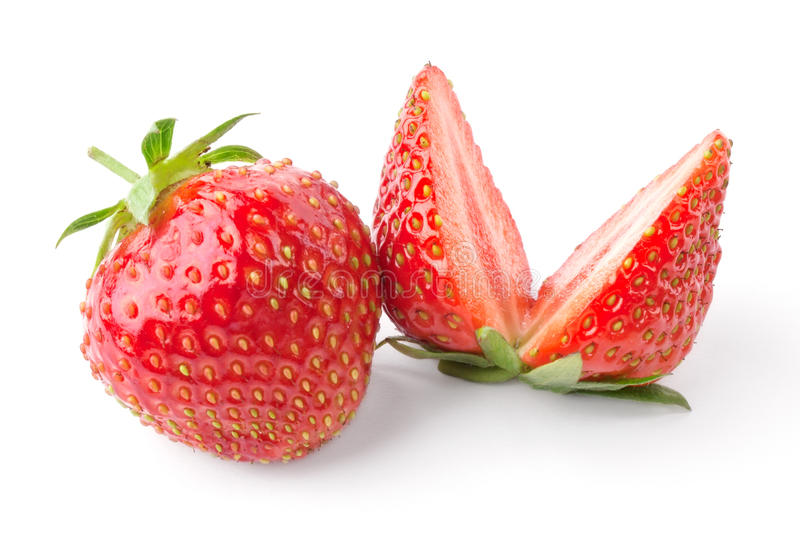 Strawberry cut in half royalty free stock image