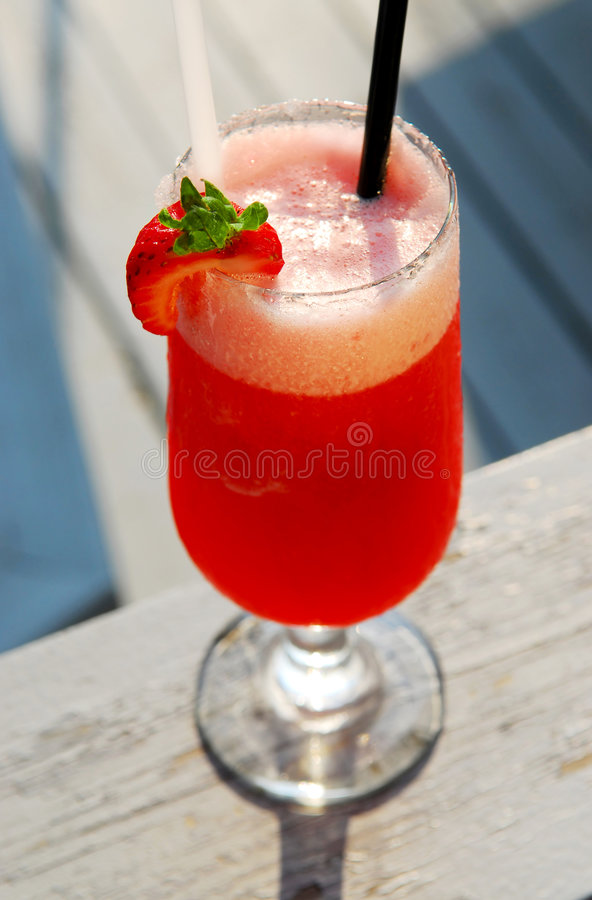 Strawberry daiquiri stock photo