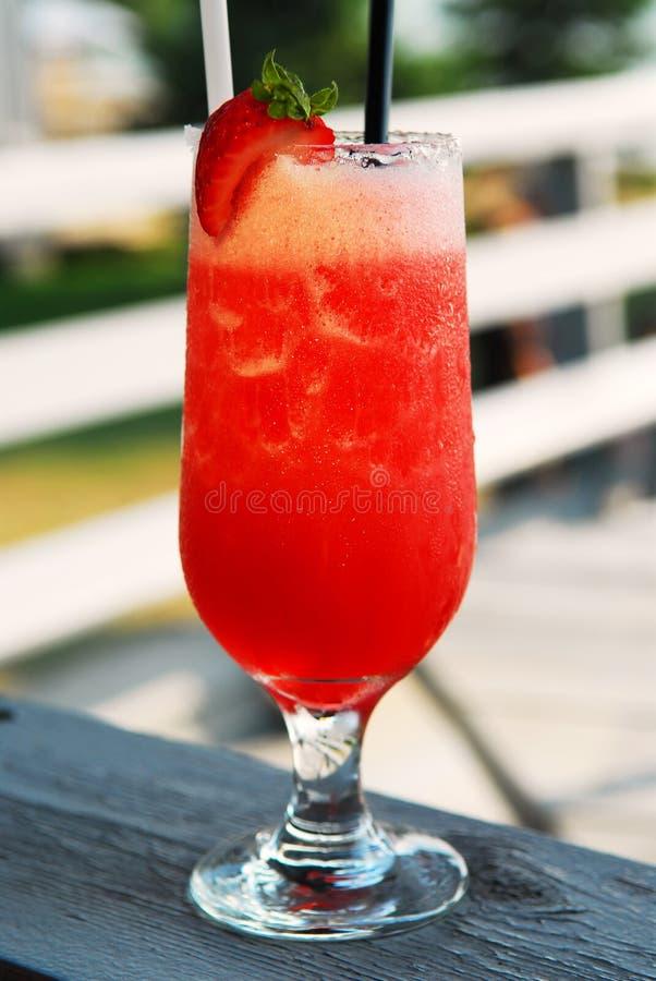 Strawberry daiquiri stock photography