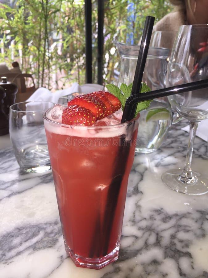 strawberry daiquiri royalty free stock photography