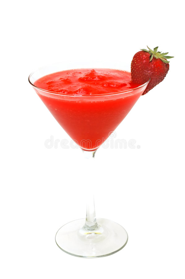 Strawberry Daiquiri with Garnish Isolated stock images