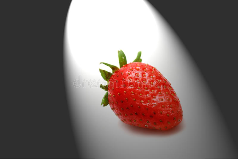 Download Strawberry in the dark stock image. Image of lighting - 13202203