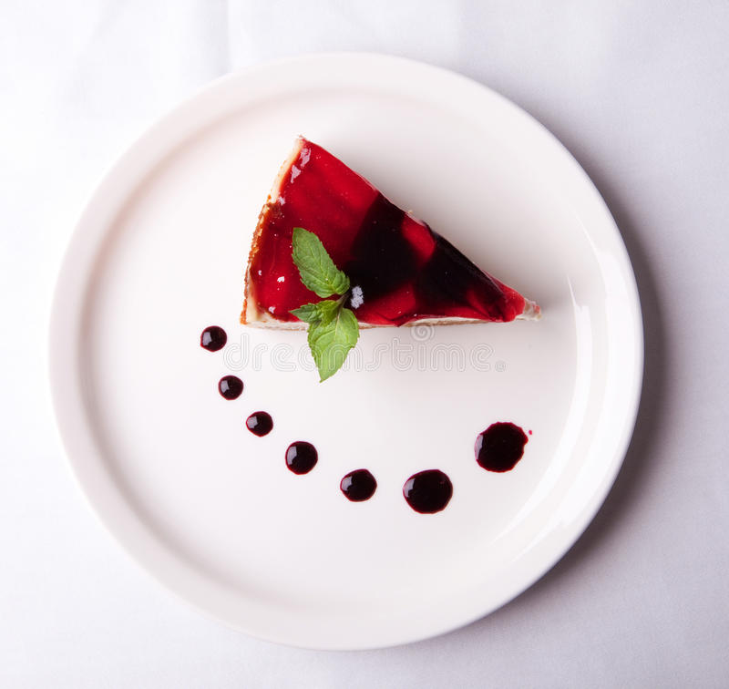 Strawberry dessert. In a plate royalty free stock photography