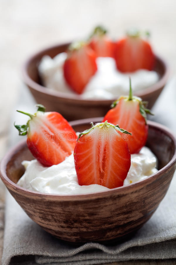 Strawberry Dessert Stock Photography