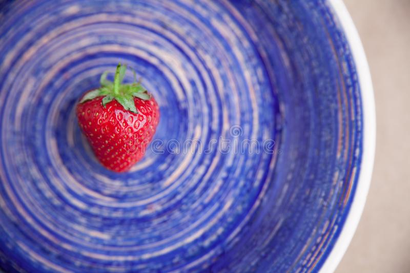 Strawberry on a dish stock photo