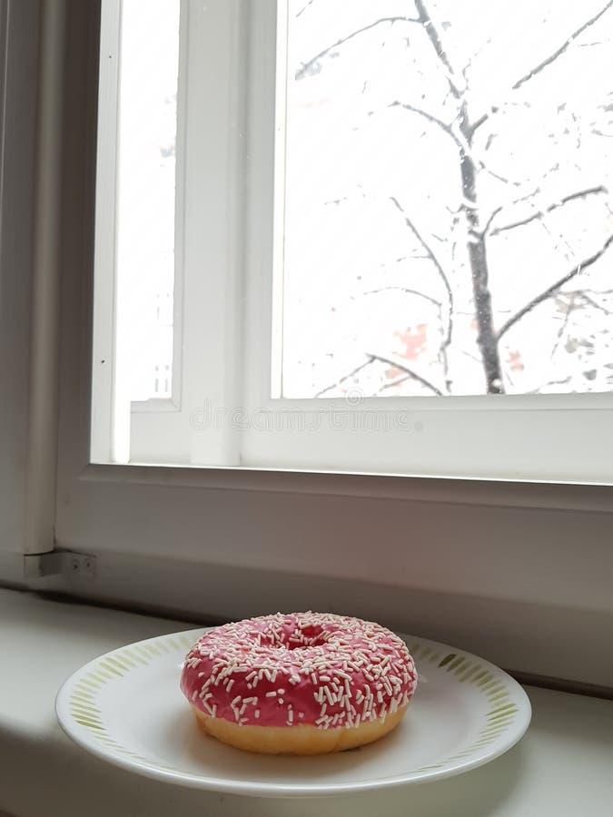 Strawberry donut stock photography