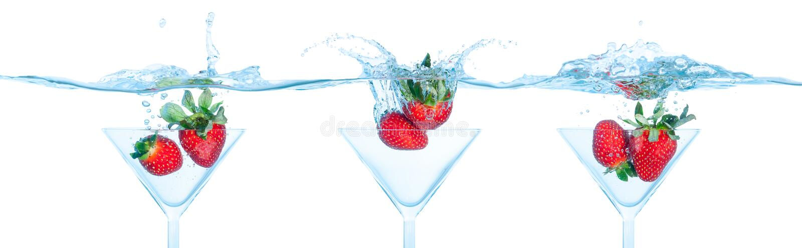 Download Strawberry Dropped Into Water Stock Photography - Image: 25307552