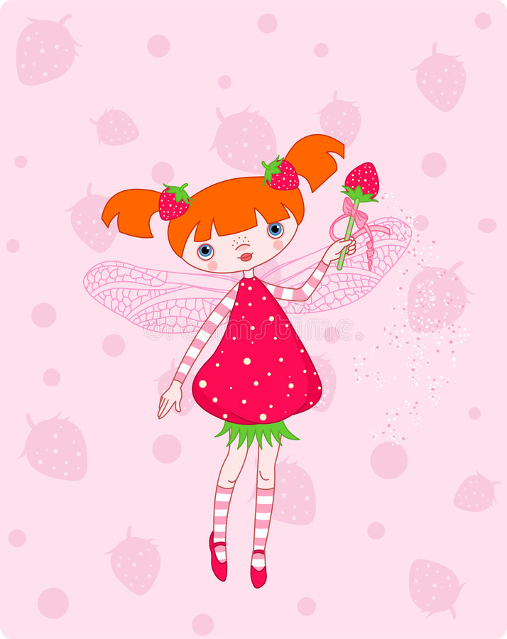 Download Strawberry fairy stock vector. Illustration of dressed - 8754734