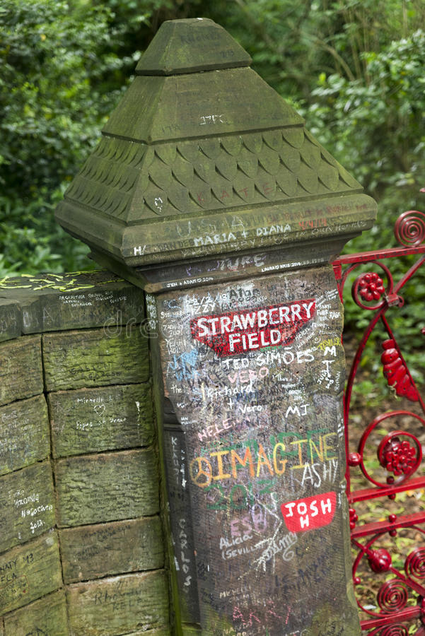 Strawberry Field Gates in Liverpool royalty free stock photos