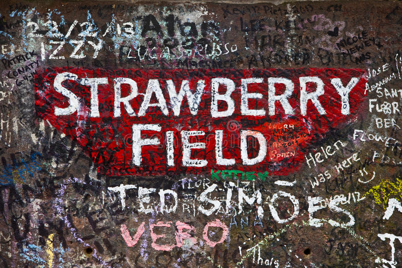 Strawberry Field in Liverpool stock images