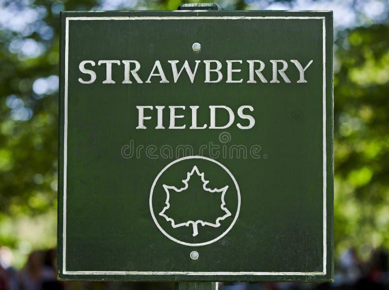 Strawberry Fields assina dentro Central Park fotografia de stock