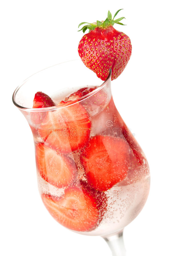 Download Strawberry fizz cocktail stock photo. Image of glass - 15062816