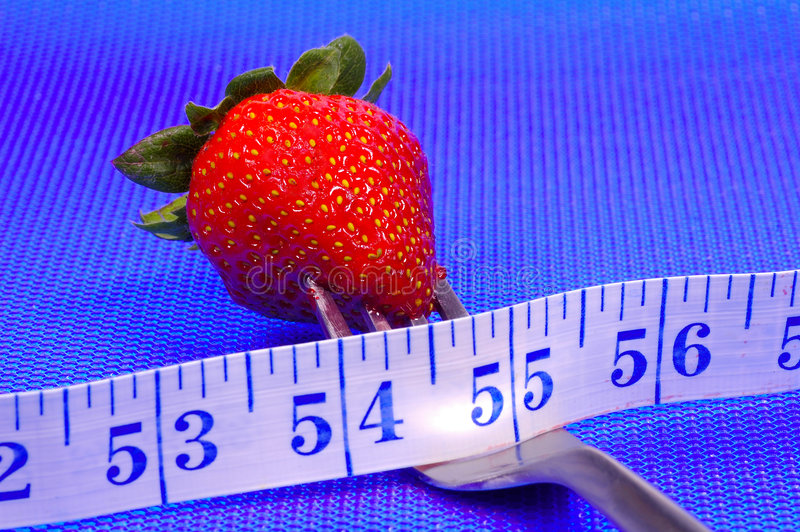 Strawberry on a Fork royalty free stock photo