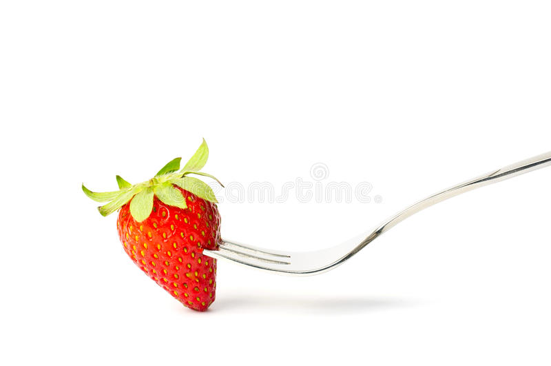 Download Strawberry on fork stock image. Image of leaf, fruity - 19838659