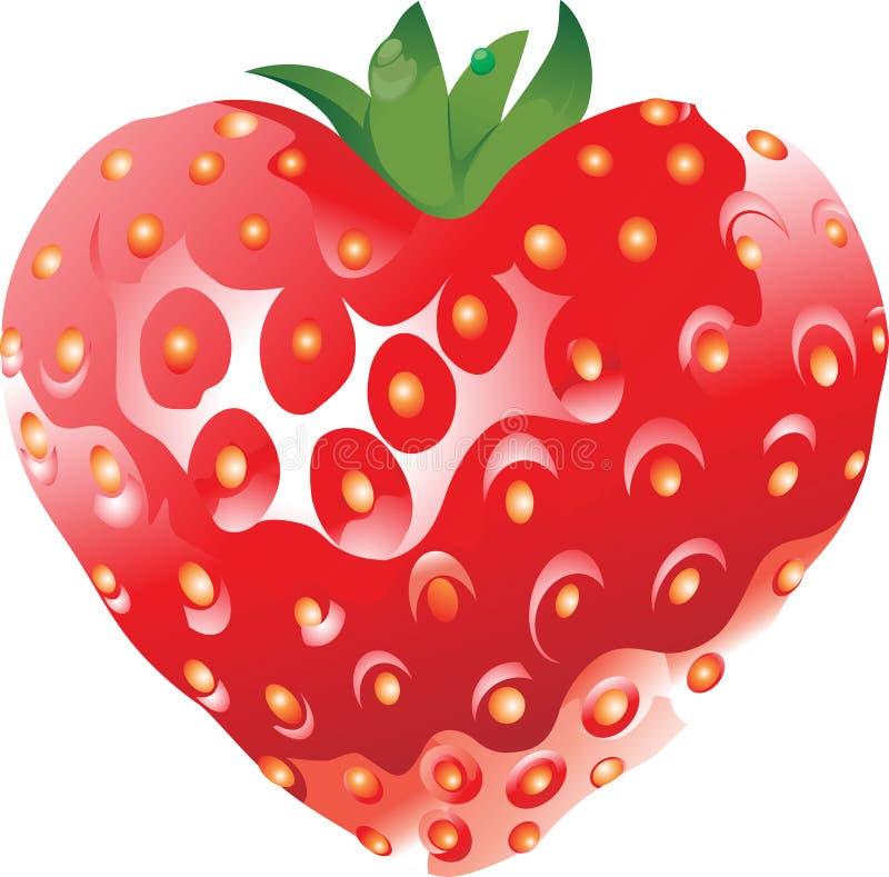 Strawberry_fruit_red_full_vector royaltyfria bilder