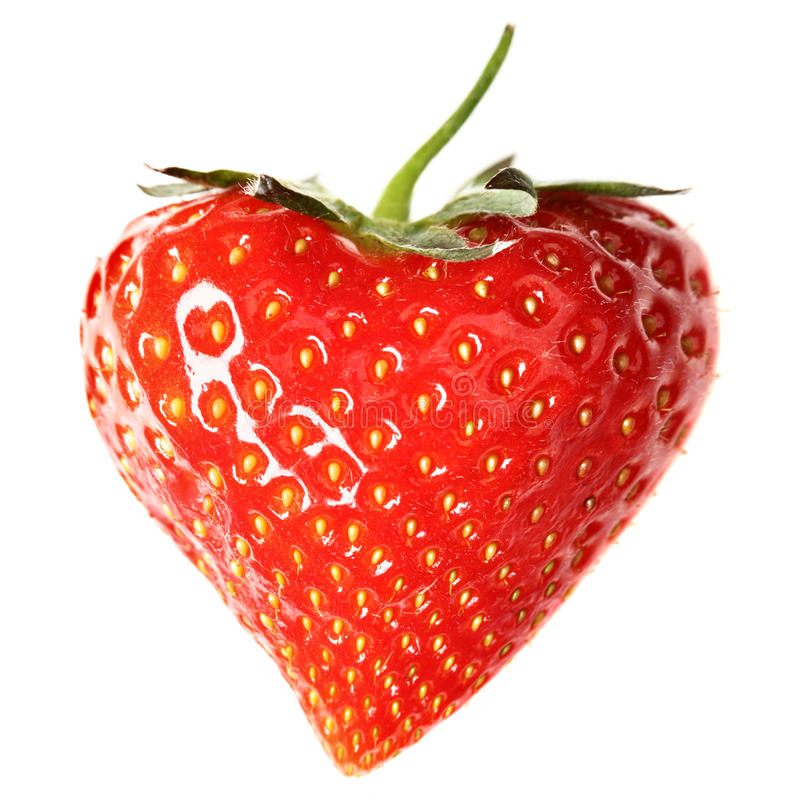 Download Strawberry-heart stock image. Image of isolated, heart - 14314973