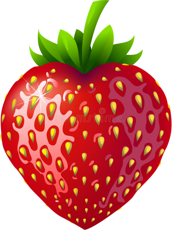 Strawberry heart. royalty free illustration