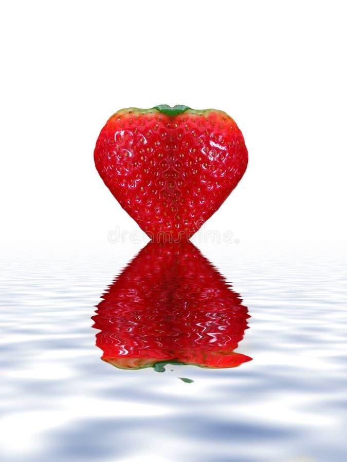 Strawberry Heart stock image