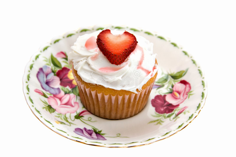 Download Strawberry Heart Cupcake stock image. Image of overload - 2401369