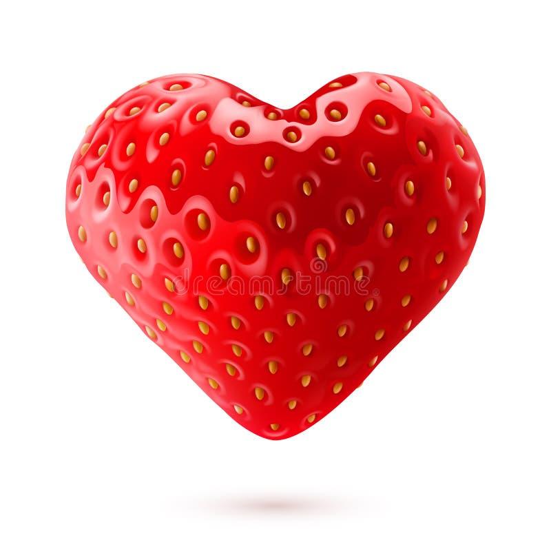 Strawberry heart royalty free illustration